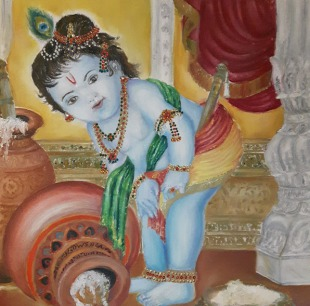 Krishna with Butter Pot Iconography